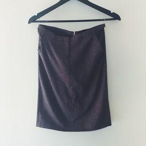Vintage wool blend midi skirt. Size XS.